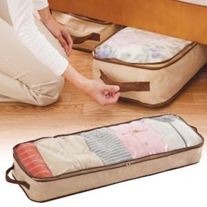 Japan Mu Hui charcoal bed under the In addition to flavor windows clothing pouch blanket finishing bag 47L beige 37L