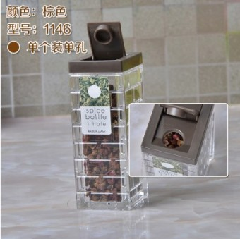 Japan's imports of creative kitchen supplies spice jar seasoning cans seasoning box seasoning box plastic condiment bottles