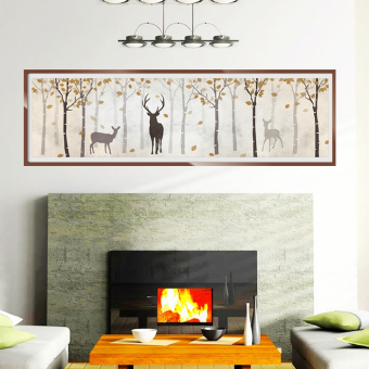 Jianyue forest deer living room TV backdrop wall stickers