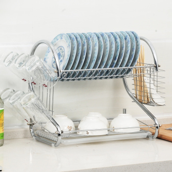 Jiaying Double-layer Stainless Steel Dish Rack