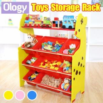 Kids Toy Rack Organizer Cabinet Storage Children Book Shelf