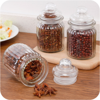 Kitchen grains storage seasoning bottle glass bottle