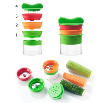 Kitchen Multi-function Spiral Slicer Vegetable Shred Device CutterCarrot - intl