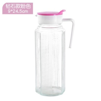 Harga Large glass of cold water bottle home heat-resistant transparent water with juice drinks pot cool water pot of tea container cup