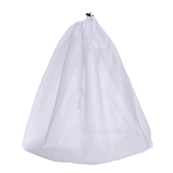 Laundry Bag Clothes Washing Laundry Bra Mesh Bag(White)-L - intl