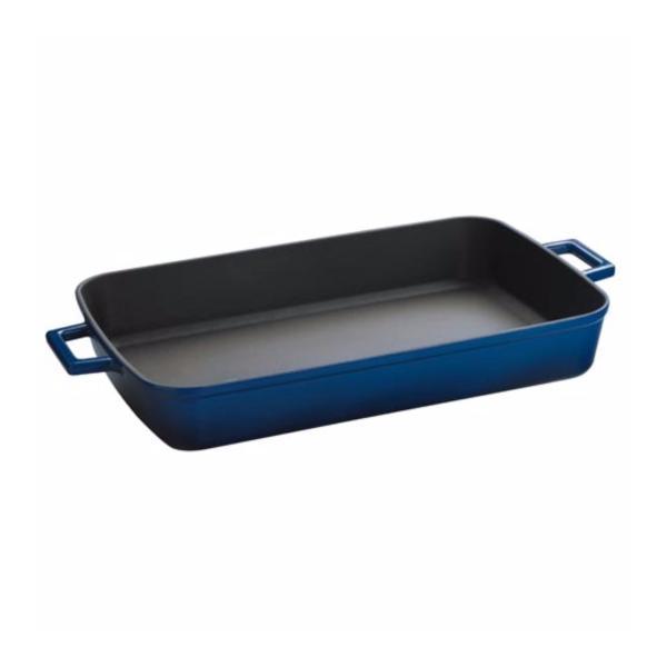 Lava Cast Iron22x30cm Rect Roasting Dish Blue Singapore