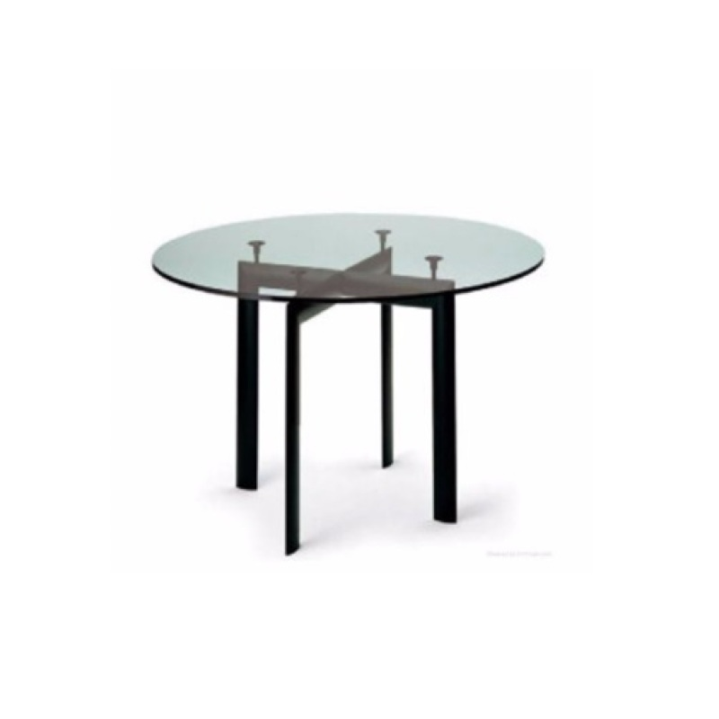 LC10 Round Tempered Glass Table