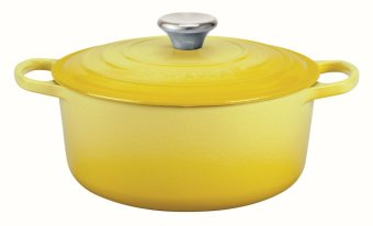 Le Creuset Cast Iron Round French Oven 16cm, Classic (Soleil)