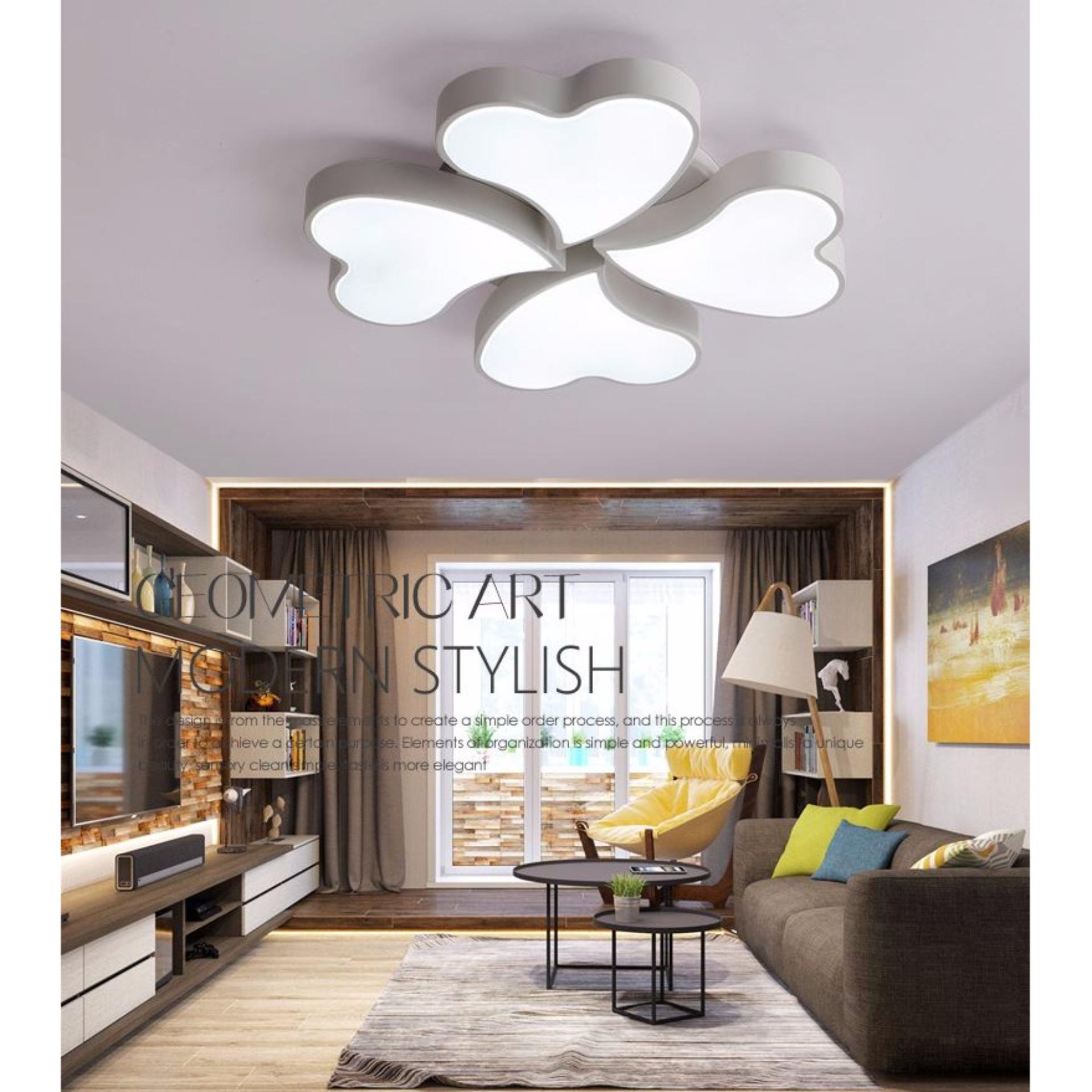 LED Acrylic Heart Shape Ceiling Light (four lights) for Children ...