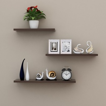 Living room wall TV set-top box shelf