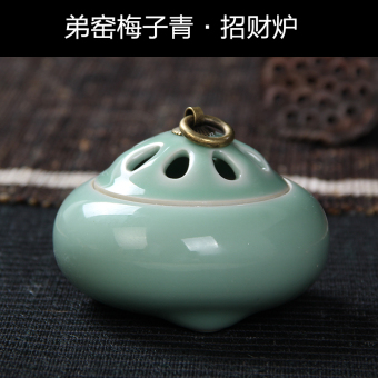 Longquanqingci copper sandalwood incense coil incense censer incense holder