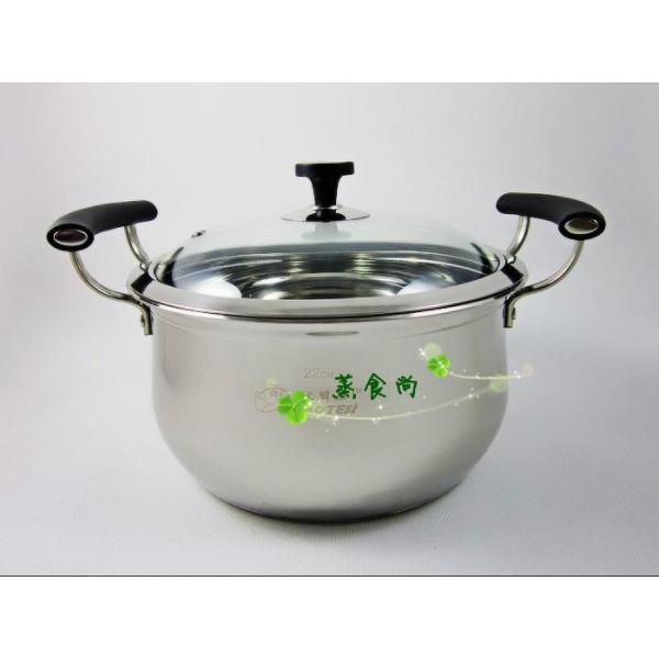 Lotus Kitchen Does Not Rust Steel Double Bottom Diagonal American Up-Double Handle Pot Electromagnetic Furnace Adapt Singapore
