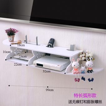 Machine set-top box rack shelving rack wall-free punch living room TV machine wall partition bedroom routing device storage box