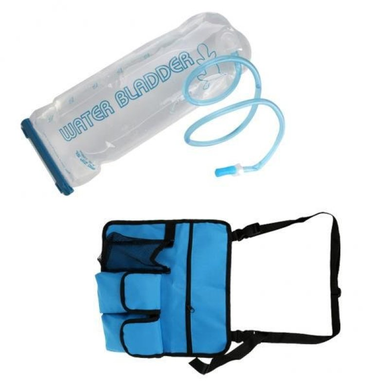 MagiDeal Camping Beach Chair Hanging Storage Shoulder Bag with 3L Bladder Water Bag - intl