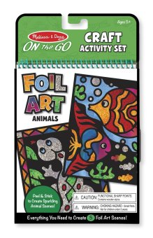 Melissa and Doug ON the GO Craft Foil Art Animals