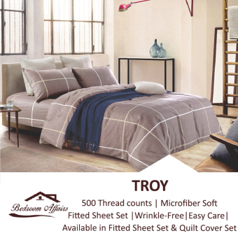 Harga MICROFINE Troy Quilt Cover Set