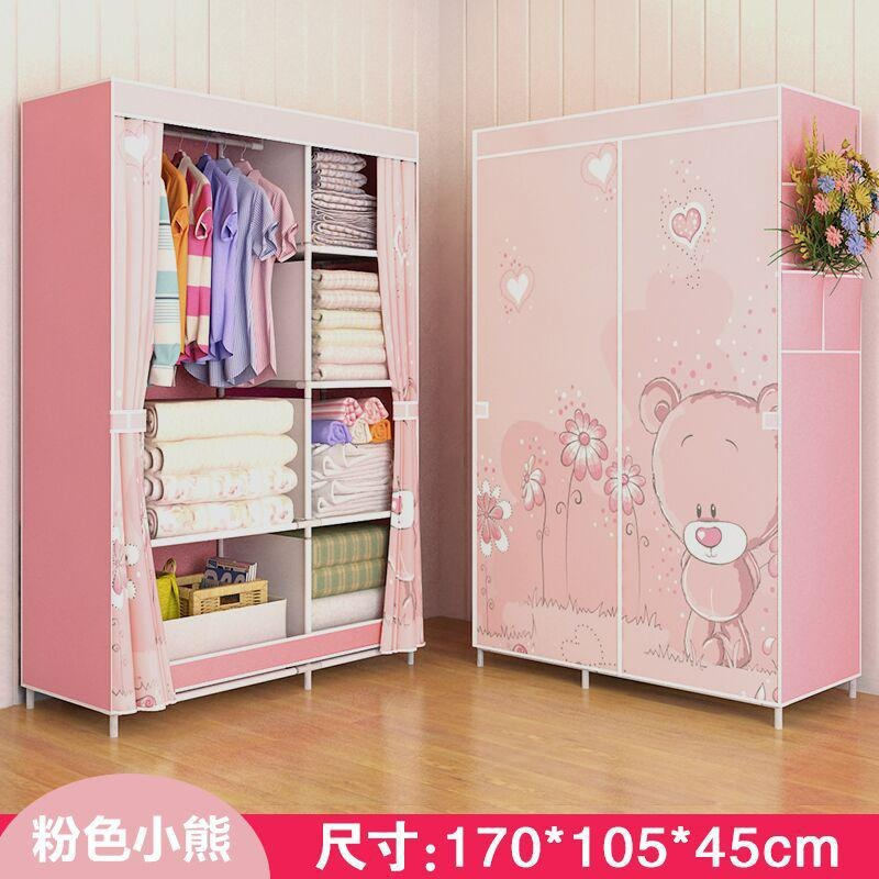 Non-woven Foldable Wardrobe Closet Durable Cabinets Modern Simple Wardrobe Assembly Reinforcement Clothes Storage Racks