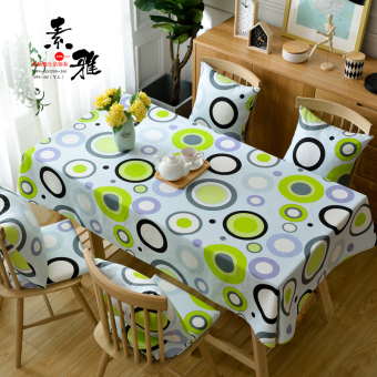 Nordic Simple And Elegant Cotton Hemp Circle Small Fresh Modern Simple  European Round Table Cloth Fabric