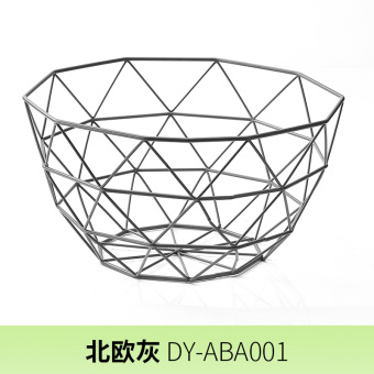 Nordic simple desktop storage rack living room fruit basket wrought iron fruit basket