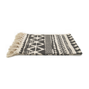 Nordic simple pure cotton thread bathroom bedside small blanket mat rug