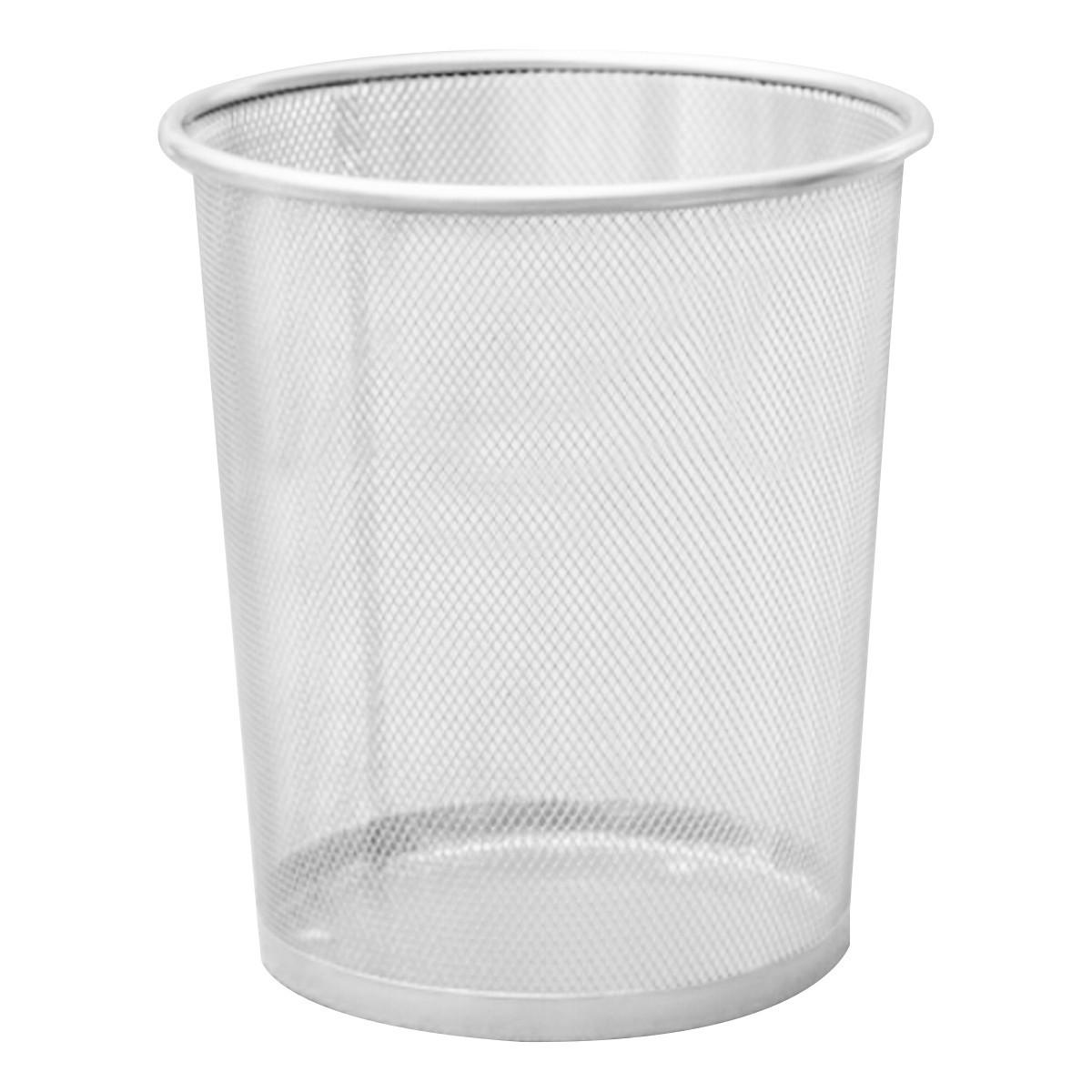 Office Can Metal Mesh Waste Bin Wastebasket Rubbish Paper Net Trash Basket  NEW  Intl | Lazada Singapore