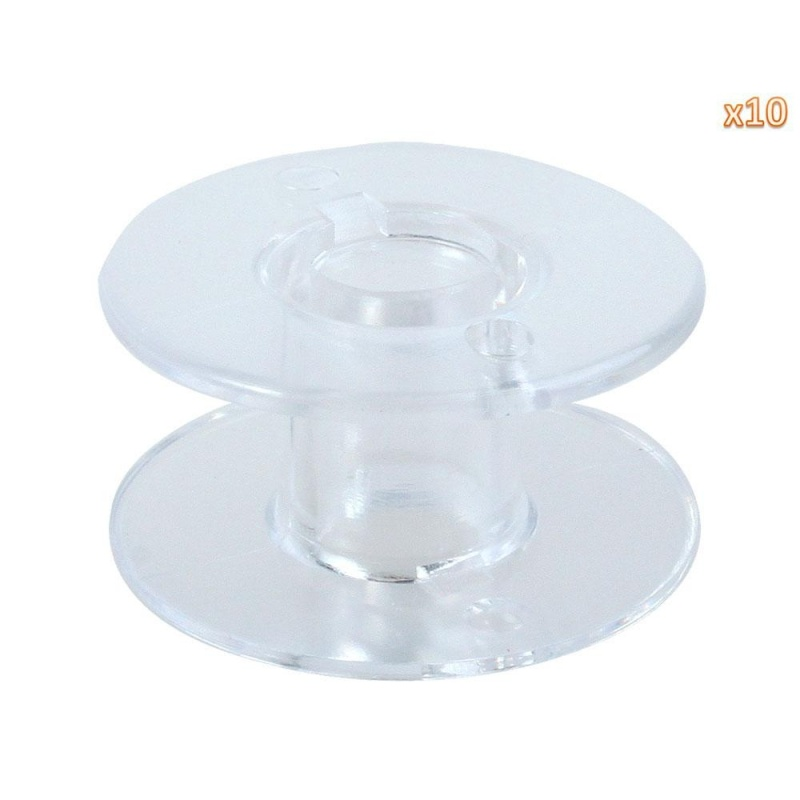 ooplm Sewing Machine Bobbins for Singer (Clear, Set of 10) - intl