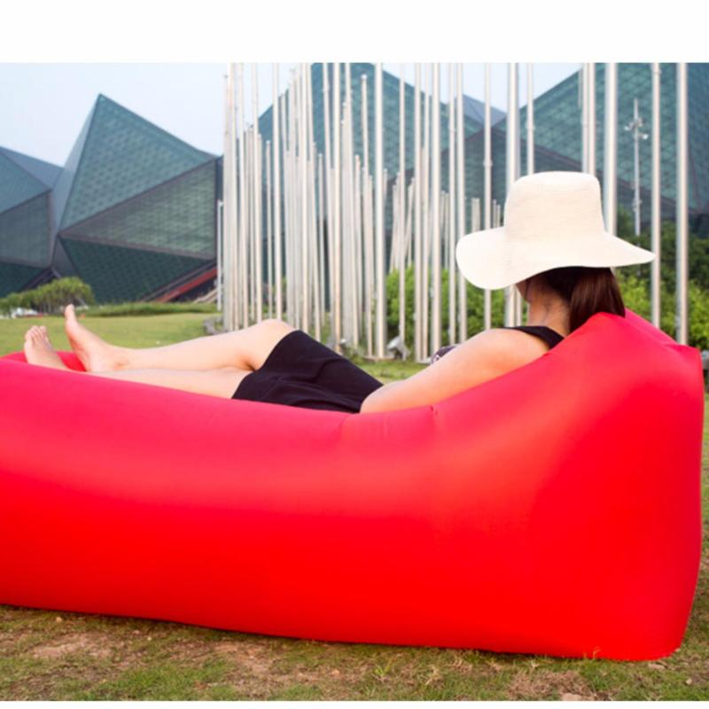 Outdoor Inflatable Lounger/Couch,Portable Blow Up Lounge Chair,Pool Air Hammock,Hangout Lazy Sofa