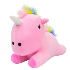 Perfectworld Practical High-quality Hot Sell Cute Rainbow Pony Horse Pillow Festival Nursery Comfortable Gifts Toy Cotton - intl
