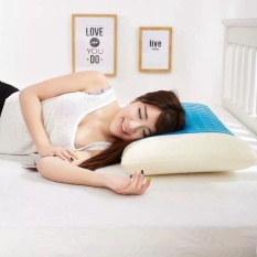 Perfectworld Practical High-quality Hot Sell Memory Foam White Pillow Cooling Gel Washable Sleep Cervical Vertebra Protect - intl