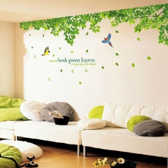 Photo tree wall stickers living room TV backdrop adhesive paper