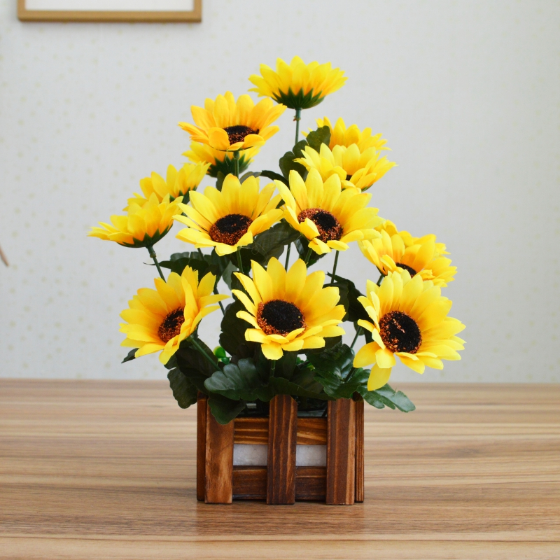 Singapore plastic artificial flowers floral silk flower dried plastic artificial flowers floral silk flower dried bouquet simulation flower suit living room home decorations wood mightylinksfo