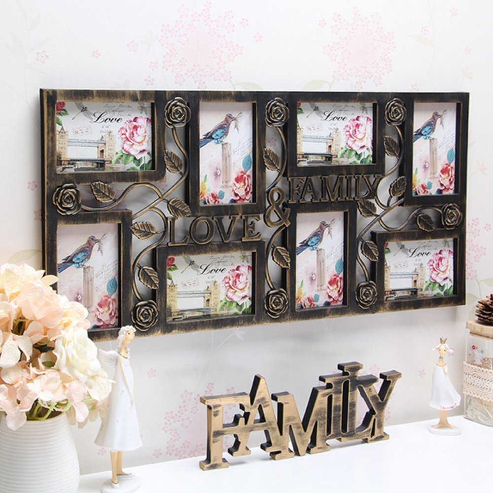 Plastic Collage Hanging Photo Frame Love Family Picture Display Wall Home Decor