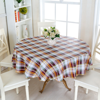 Plastic Waterproof Oil Resistant Heat Resistant Tablecloth Small Round Table
