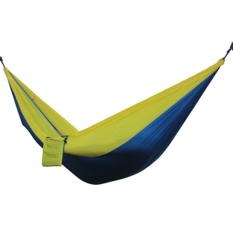 Portable Double Person Hammock (Blue yellow)