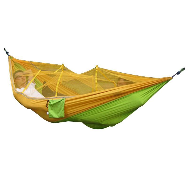 Portable Outdoor Hammock (Yellow and Green) - Intl - intl