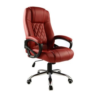Presidential High Back PU Leather Chair Red Lazada Singapore