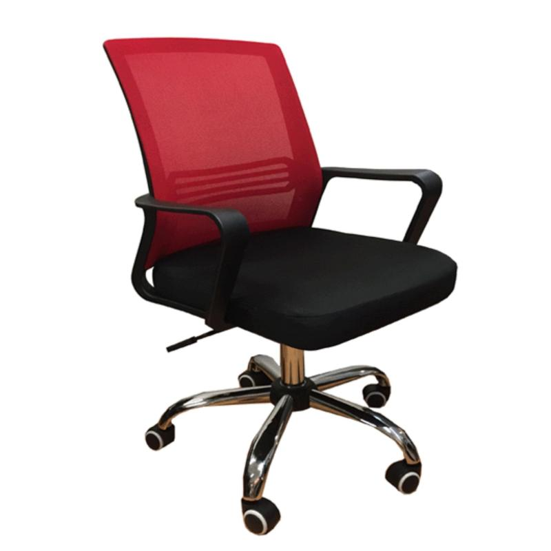 QUARTZ II Low Back Office Chair | Mesh Chair (Red) Singapore