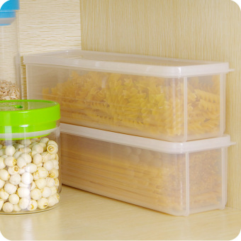 Rectangular plastic food container sealed box noodles Storage Tank with lid storage box dried fruit noodles storage box