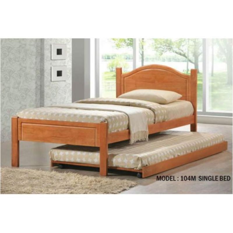 Red Dot Wooden Bed Frame w/o Pull Out Bed
