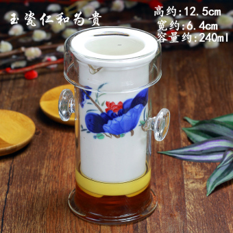 Rich ceramic tea glass filter cup red tea is