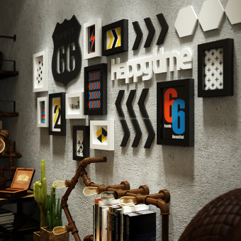 Wall Hangings For Living Room. Room 3D stereoscopic photo wall frame hangings livingroom  background stickers retro industrial style For Sale 3d Stereoscopic Photo Wall Frame Hangings