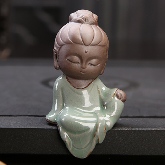 San Sheng cute small boutique clay Kung Fu tea pet Ornaments