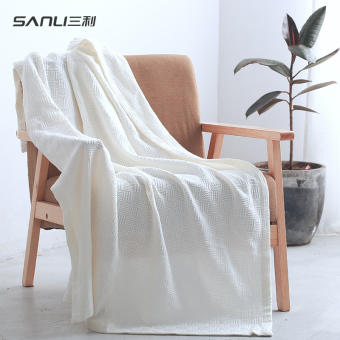 Sanli children's single thin cotton air conditioning was small hair blanket