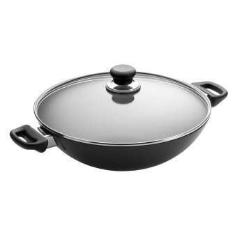Harga SCANPAN Classic 32cm Wok With Glass Lid