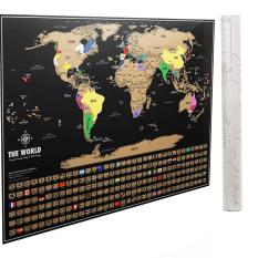 Scratch Off World Map With Us States.Scratch Off World Map Poster Newest 2018 Version By Dacho Original