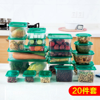 Sets of rectangular refrigerator microwave lunch box plastic food container