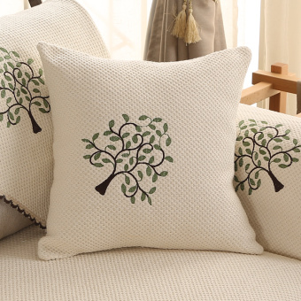 Simple Home solid color Linen pillow cover sofa cushion pillow homefabric office car pillow