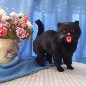 Simulation cat Halloween black cat decorative products ornaments mall decorative photography exhibition props craft products decoration