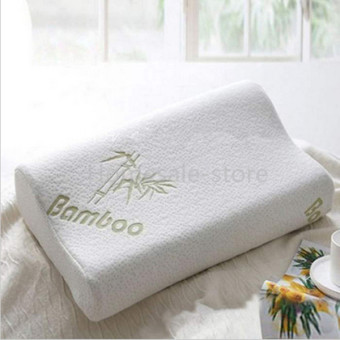 Sleep Bamboo Fiber Pillow Slow Rebound Memory Foam Cervical HealthCare (EXPORT)