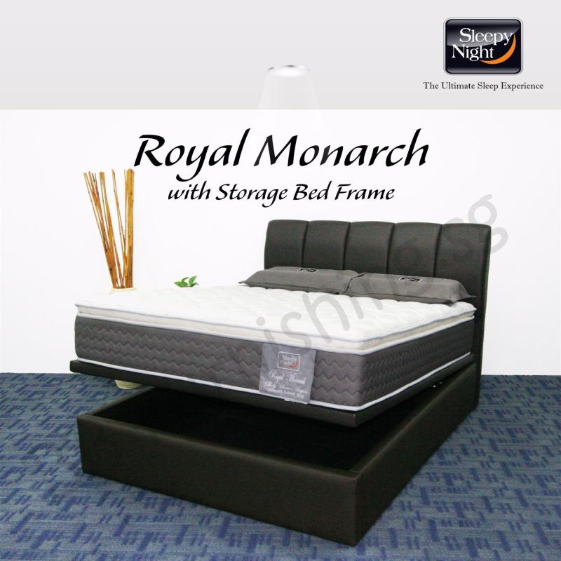 Sleepy Night (King) Royal Monarch Mattress with Jacinta Storage Bedframe